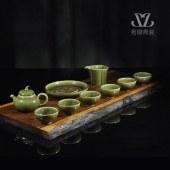 龙泉青瓷田园情趣茶具