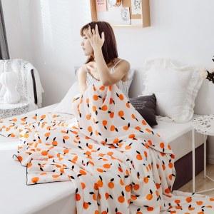 玻尿酸美肤夏凉被【橘子  尺寸:2m*2.3m】