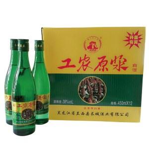 工农原浆清香型白酒450ML 38度 一箱起售包邮