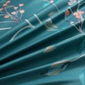 60s长绒棉四件套【晨园幽香深绿色,尺寸:2m*2.3m】