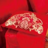 欧贝尔家纺精品绣花贡缎婚庆双人十件套