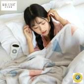 沃尔斯顿电热毯双人电暖被智能恒温安全可机洗10档调温10小时定时205*155